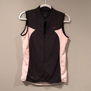 Pink and gray workout Nike vest